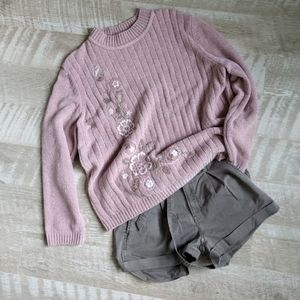 Alfred Dunner Chenille Embroidered Sweater